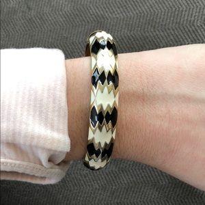 Gold, black and white bracelet